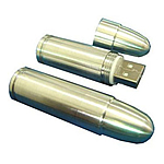Promotional Custom Shaped USB Flash Drive - BULLET
