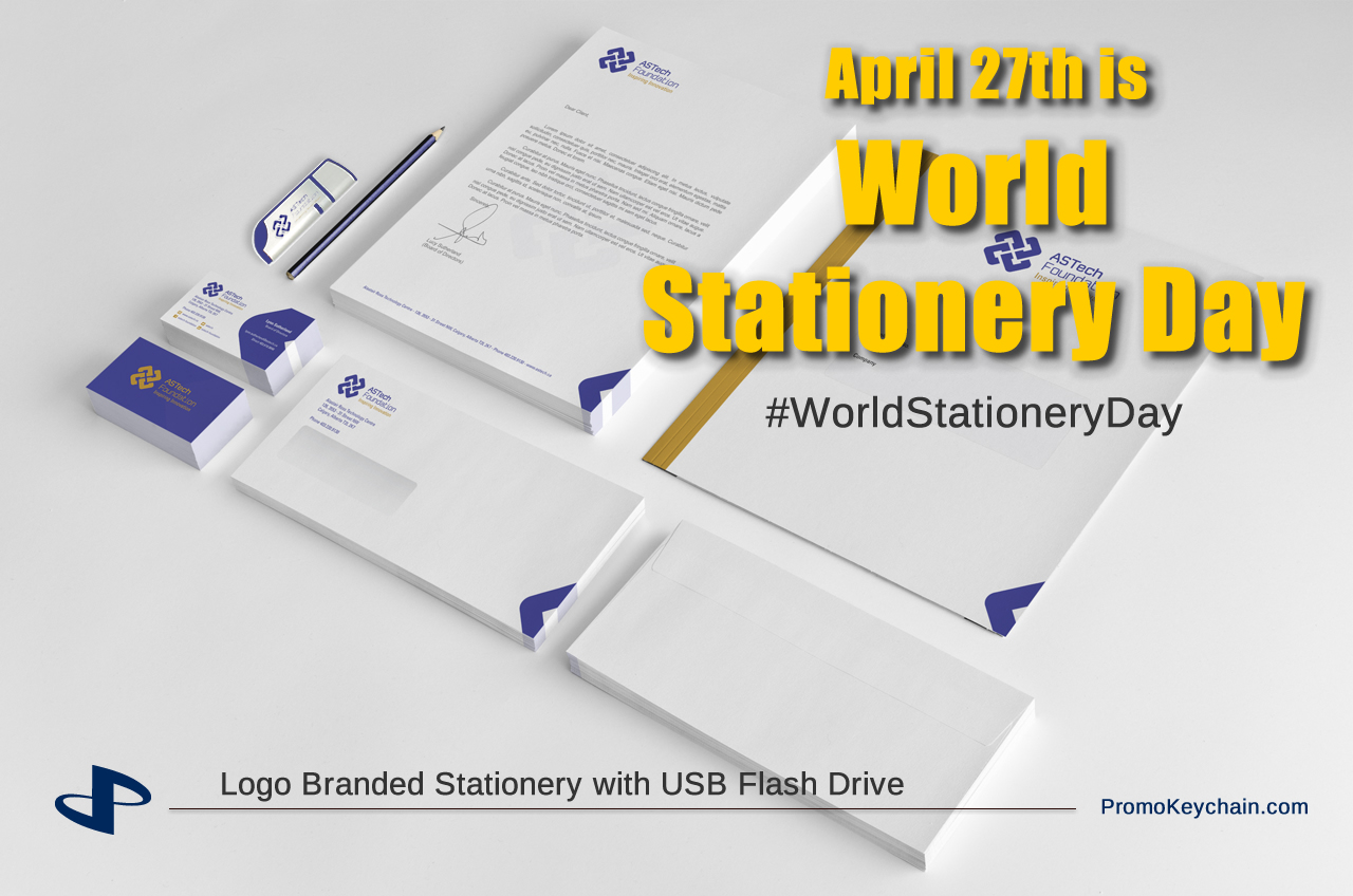 Logo Branded Stationery with USB Flash Drive
