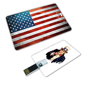 Full Colour Custom USB Flash Drive - Card Shape - BUSINESS CARD