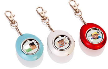 "Digital Photo Keychain - EASTER EGG - 1.1"" screen"