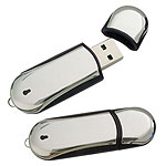Custom USB Flash Drive - Metal - CHROME