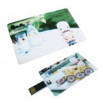 Full Colour Custom USB Flash Drive - Card Shape - GREAT CREDIT