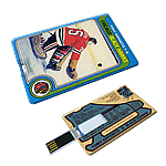 Full Colour Custom USB Flash Drive - Card Shape - HOCKEY CARD